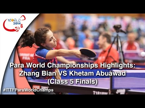 Para World Championships Highlights: Zhang Bian Vs Abuawad Khetam (Class 5 FINAL)