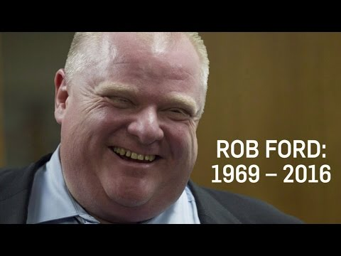 Former Toronto Mayor Rob Ford dies after cancer battle