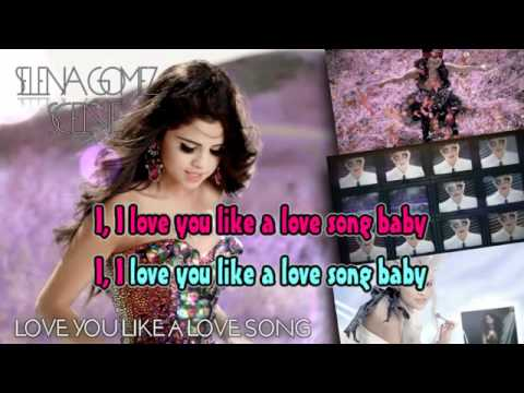 Love You Like A Love Song Karaoke Instrumental - Selena Gomez & The Scene video