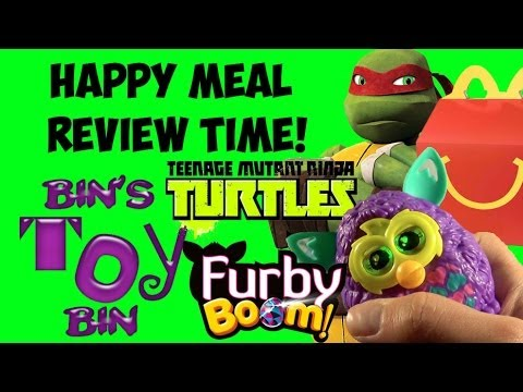 Furby Boom & Teenage Mutant Ninja Turtles (2013) Happy Meal Review + SHOUT OUTS! by Bin's Toy Bin
