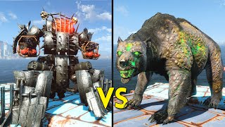 Fallout 4 - 50 AHABS vs 50 YAO GUAI - Battles #31