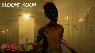Gloomy Room Demo Playthrough Gameplay (Japanese indie horror Game)