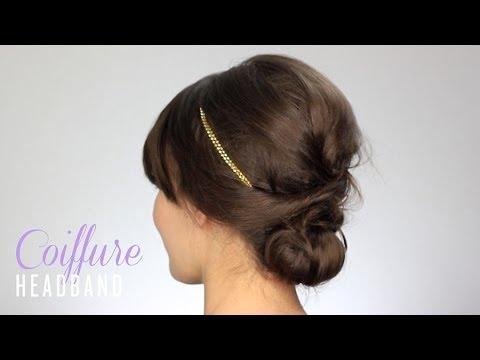 tuto coiffure headband chignon d coiff youtube. Black Bedroom Furniture Sets. Home Design Ideas