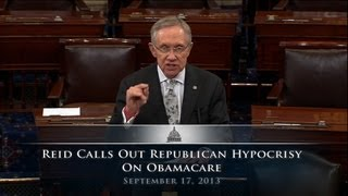 Reid Calls Out Republican Hypocrisy On Obamacare
