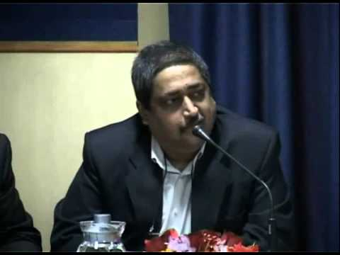 Prof. Deepankar Chakrabarty (FIIB) introduces Panel during FIIB Sustainability Summit 2014