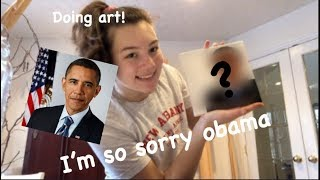 i attempted to paint a portrait of Barack Obama