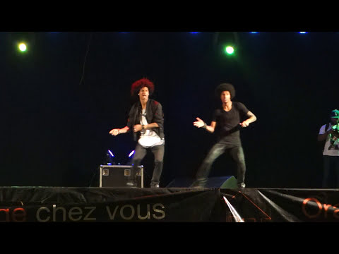 LES TWINS IN ABIDJAN 2015!!!! CRAZY FREESTYLE !! (Full performance)