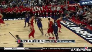 USA vs China   Full Game Highlights  Rio Olympic 2016 USA Basketball Showcase