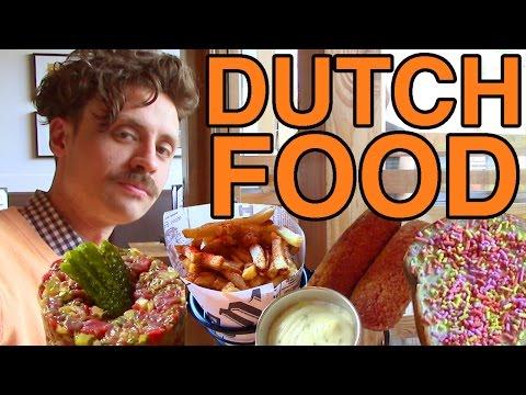 Eating Dutch Food on Koningsdag
