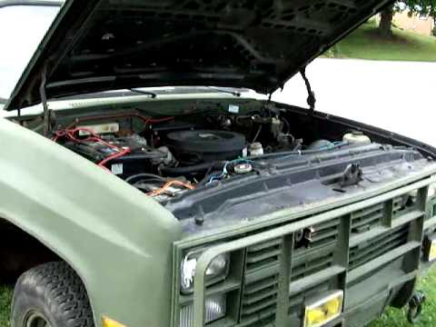 My 1985 Chevrolet M1008 walkaround and startup