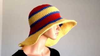 Summer Project 3: Crochet Cotton Large Brimmed Summer Hat