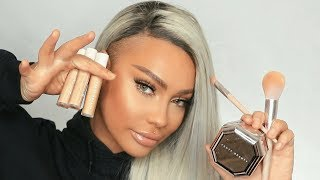 HOW TO NOT LOOK HUNGOVER W/ FENTY BEAUTY CONCEALERS AND POWDER | SONJDRADELUXE