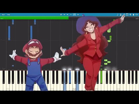 Jump Up, Super Star! Remix - Super Mario Odyssey - The Living Tombstone - Piano Tutorial / Cover #1