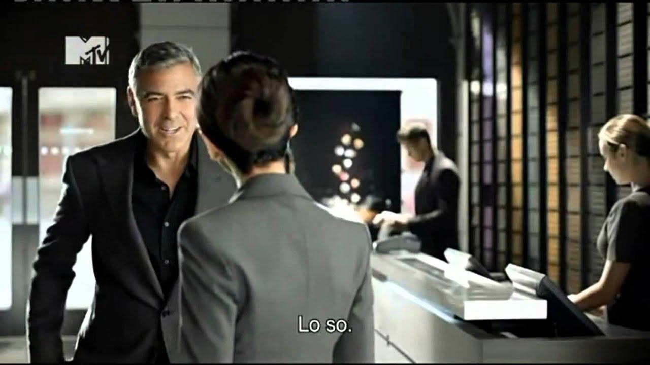 Pubblicit parodia nespresso con george clooney youtube for Artista pubblicita nespresso