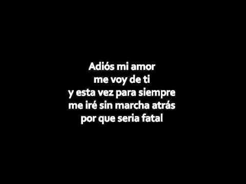 [Letra] Cristian Nodal - Adios Amor [Oficial Audio]