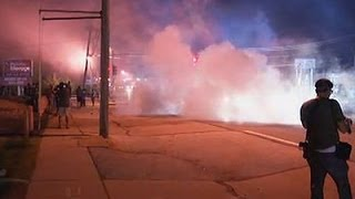 Raw: Tear Gas Fired in Ferguson