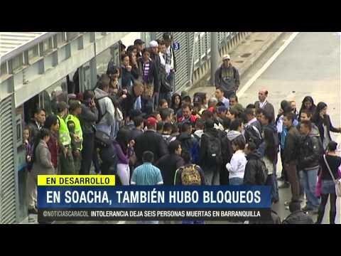 Otro día de caos en TransMilenio por bloqueos, disturbios, abusos y trancones - 4 de Marzo de 2014