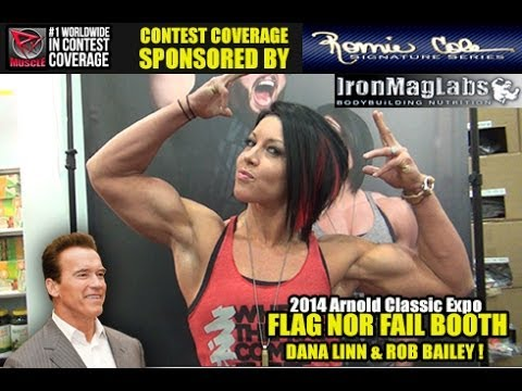 Dana Linn Bailey At The Flag Nor Fail Booth Arnold Classic 2014!