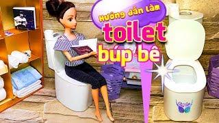 Make a doll toilet - Doll Crafts - simplekidscrafts