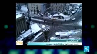 عاصفة جديدة تضرب شرق البحر الأبيض المتوسط