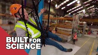 Testing A Zip Line That Goes Round Corners
