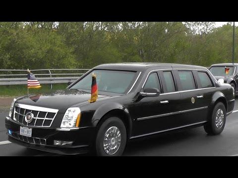 """Obama in Hannover   US-Präsidenten Kolonne mit """"The Beast""""   Großeinsatz am 24.04.2016"""
