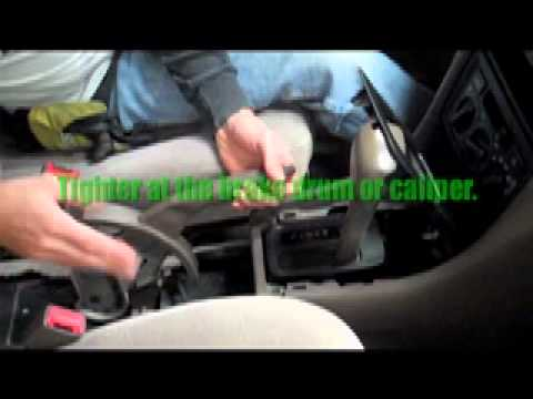 Adjusting A Hand Brake On A Car Youtube