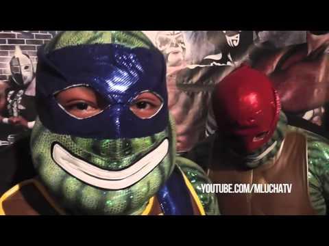 Las Tortugas Ninja retan a los Oficiales a una lucha máscaras vs cabelleras