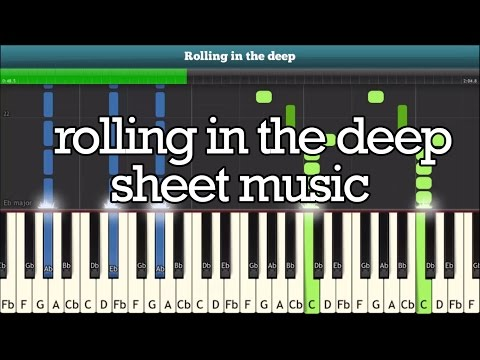 Rolling In The Deep Piano Tutorial - Free Sheet Music (ADELE)