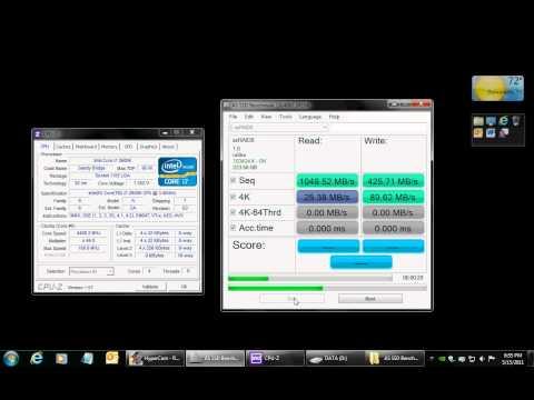 OCZ Vertex 3 120GB 2 disk RAID 0 Benchmark (Max IOPS Edition)