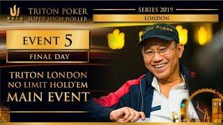 Triton London 2019 - Triton London NLH Main Event £100K - Final Day