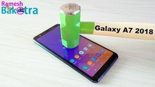 Samsung Galaxy A7 2018 Gorilla Glass Screen Scratch Test
