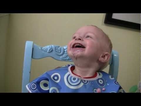 Baby Micah Laughing Hysterically In His High Chair