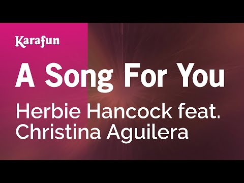 Karaoke A Song For You - Herbie Hancock *
