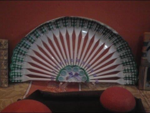 Abanico con tenedores de pl stico youtube - Manualidades con tapones de plastico ...