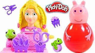 Mejores Videos Para Niños - Peppa Pig Weebles Rapunzel Play Doh Hair Fun Videos For Kids