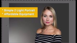 A 2-Light Beauty Portrait Using Affordable Photography Lighting. Photography Training by Karl Taylor