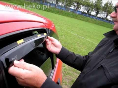 Instrukcja montażu owiewek HEKO   How to install wind deflectors