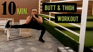 10 Minute Butt and Thigh Workout for a Bigger Butt! At Home (No Equipment)