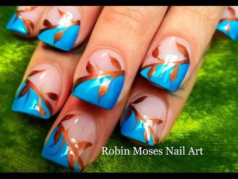 Easy Fall Leaves  Nails   DIY Autumn Nail Art Design Tutorial