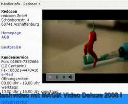 MAGIX Video Deluxe 2008 Flashtest redcoon