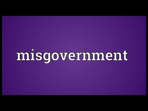 Header of misgovernment