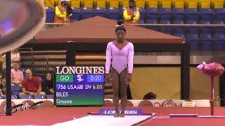 Simone Biles - Vault 1 - 2018 World Championships - Event Finals