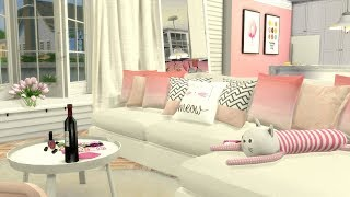 The Sims 4: Speed Build // GIRLY PINK APARTMENT+ CC Links