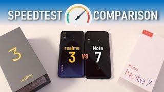 RealMe 3 vs Redmi Note 7 SpeedTest Comparison - TechRJ