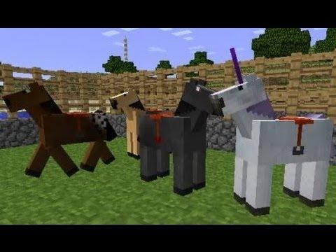 MineCraft 1.6 SnapShot 13w17a: Horses Unicorns!