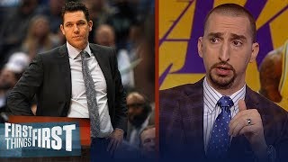 Nick Wright: Luke Walton deserves to be fired after Lakers' loss to Hawks | NBA | FIRST THINGS FIRST