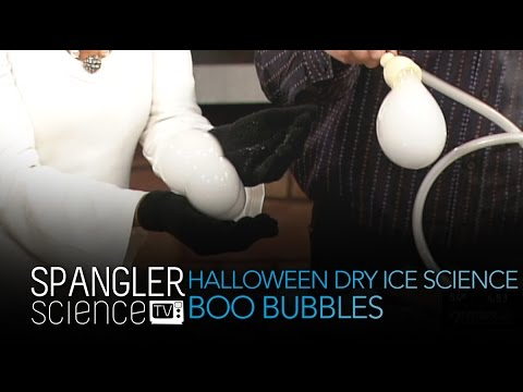 Halloween Dry Ice Science-Boo Bubbles - Cool Science Experiment