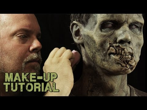 How to Apply Reusable Silicone Zombie Prosthetics to look 'Walking Dead' 4 Halloween - trailer!
