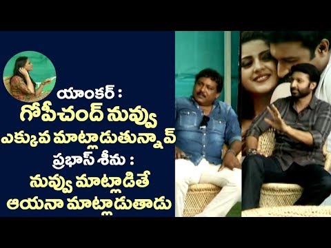 Anchor Comments On Gopichand Behaviour @Pantham Interview | Filmy monk